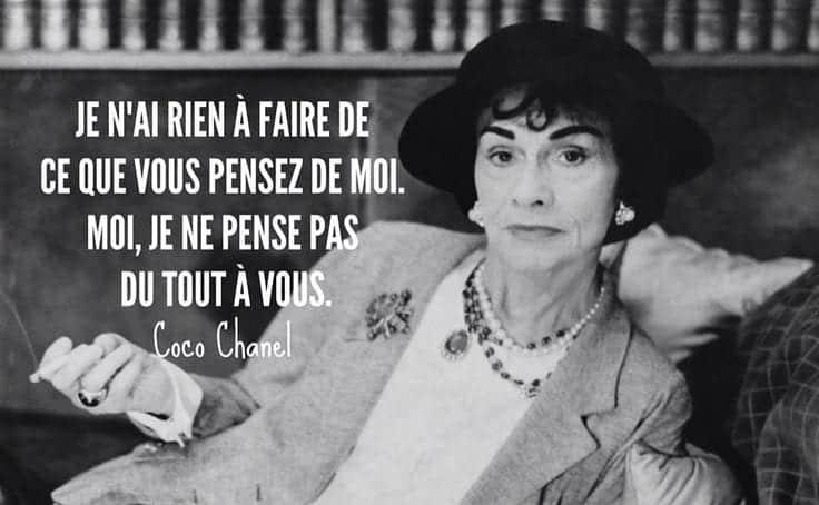 Coco Chanel citation femme libre