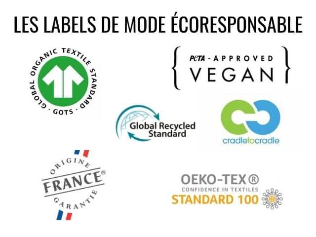 Les labels de mode écoresponsable