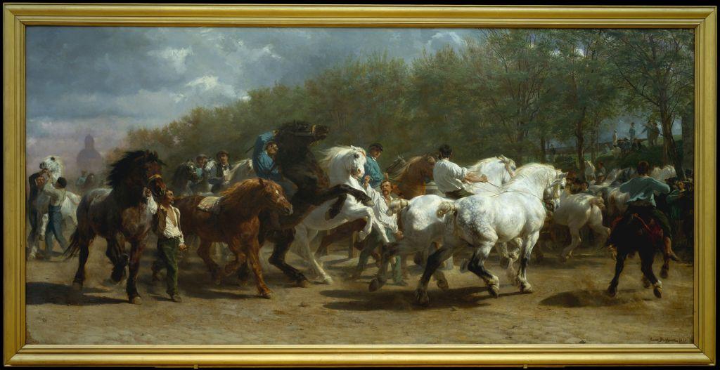 marché aux chevaux toile de rosa bonheur