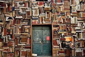 Livres empilés dans une bibliothèque contenant de nombreuses connaissances