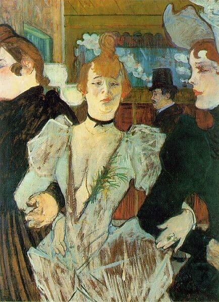 Affiche représentant La Goulue et Valentin le Désossé en train de danser au Moulin Rouge.